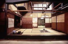 Interior of a 19th Century merchant's house, the Matsumoto House, in Takayama, Japan.