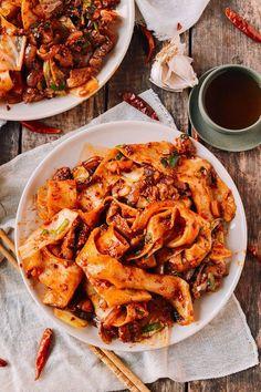 Spicy Cumin Lamb Biang Biang Noodles - The Woks of Life Lamb Recipes, Asian Recipes, Cooking Recipes, Mexican Recipes, Fruit Recipes, Lamb Sauce, Cumin Lamb, Marinated Lamb, Good Food