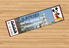 Cute Disneyland, Disney World, or Disney cruise printable surprise tickets! I surprised my kids on Christmas morning with these and it was so fun!! Printable pdf and jpg emailed to you after purchase. $7.50 via Etsy and SnappyBrickPhotos. YEA for Mickey! My kids loved it!!