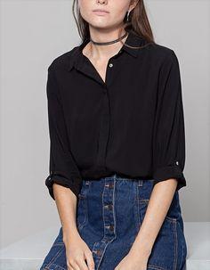 Рубашка базового покроя