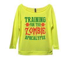 Training For The Zombie Apocalypse Womens 3/4 Long Sleeve Vintage Raw Edge Shirt