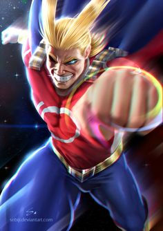 All Might by Sebiji.deviantart.com on @DeviantArt