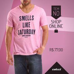 #tshirt #camiseta #modamasculina #pinkshirt #pink #fashion #colcci