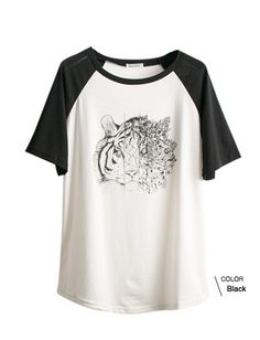 Tiger Baseball Tee $11.05  https://mexyshop.myshopify.com/collections/tops/products/2462