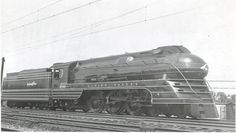 Lehigh Valley streamlined 4-6-2 #2102 in Allentown., Pa.