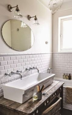 When you are searching for Small Bathroom Remodel style ideas, it helps to have easy obvious project strategy. Because designing an ideal remodel ideas for bathroom sink a budget Laundry In Bathroom, Bathroom Renos, Bathroom Ideas, Bathroom Vanities, Vanity Faucets, Farmhouse Sink In Bathroom, White Bathroom, Bathroom Small, Bathroom Modern