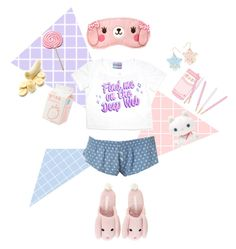 """""""ingrid"""" by lungworty ❤ liked on Polyvore featuring pastel, kawaii, pajamas and clotheshavenogender"""