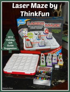 Laser Maze by ThinkFun ~ Review - Bullock's Buzz Kids and adults will love this challenging game by @ThinkFun where the object is to manipulate the laser beam through a maze of mirrors! #LaserMaze