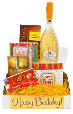 Happy Birthday Sparkling Moscato Gift Bin