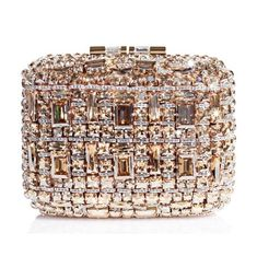 The cherry on top of @Brian Flanagan Atwood's bridal collection? This stunner of a clutch covered in Swarovski crystals.