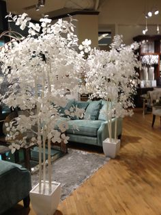 Z Gallerie  I have this tree, its gorgeous against a colored or deep grey wall