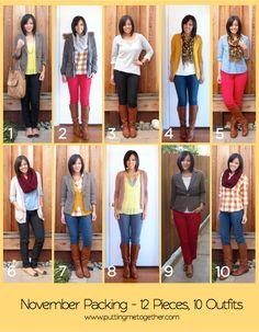 10 pieces 10 outfits - Buscar con Google