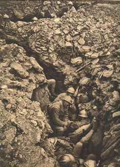 WW1 French Soldiers on hill 304, Verdun, 1915