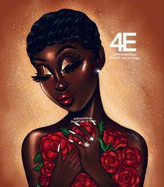 Black Love Art, Black Girl Art, Beautiful Black Women, Black Girl Magic, Black Art Painting, Black Artwork, Drawings Of Black Girls, Girl Drawings, Nia Long