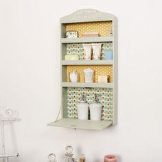 Featuring a wide range of French home accessories Dibor has country style accessories for any room perfect for adding a touch of rustic French home decor. Wall Storage Cabinets, Drop Down Table, Mint Walls, Small Cupboard, Home Storage Solutions, Rustic French, French Home Decor, Floating Shelves, Home Accessories