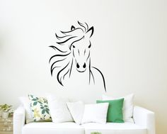 Mustang Horse Wall Decal Animal Vinyl Wall Decal by WinterStickers