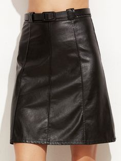 8bbf85a07f skirt160928101_2 Leather A Line Skirt, Faux Leather Skirt, Black Faux  Leather, Current Fashion
