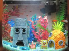 spongebob fish tank .. my son would love this!! .. hmm may have to redecorate his tank!