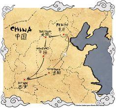 Mapa ruta China 2012. Presentaciones de nuestro Planeta, Globos, Mapas, así como las Esferas de Cristal, son excelentes para conectarnos con el Elemento Tierra y activar Sabiduría, Conocimiento y Estudios, en la coordenada Noreste de Salas, Estudios, Oficinas, Habitaciones.