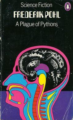 A Plague of Pythons, by Frederik Pohl, cover art by David Pelham, 1965