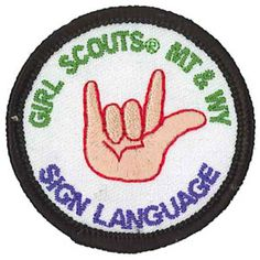 GSMW American Sign Language Badge - Available in AL?