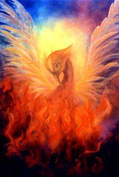 Phoenix Rising Art Print  by Marina Petro.
