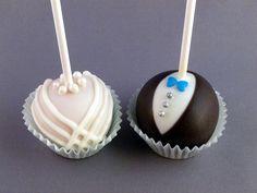Bride and Groom Cake Pops by FamilySweetery, via Flickr #bride #groom #wedding
