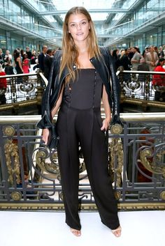 Pin for Later: The Stars Are Flocking to the Front Rows For the Last Day of PFW Nina Agdal Nina Agdal at the John Galliano show.