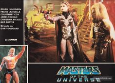 Masters Of The Universe lobby card with Dolph Lundgren, Meg Foster & Robert Towers