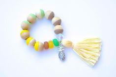 Silver Pineapple Charm Bracelet