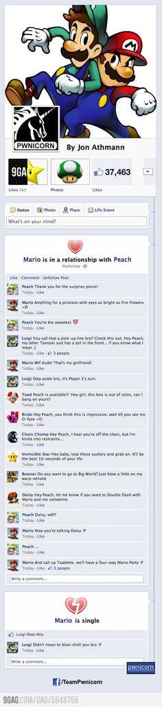 I knew it ! Peach is a bitch ! Mario, Luigi, Peach et la team #Mariokart sur Facebook :) #gaming