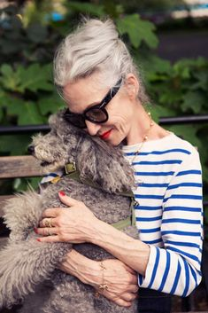 Linda Rodin & Winky | great article on her love of jeans!