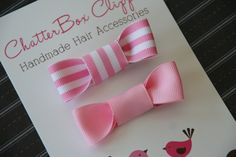 Baby Hair Clips Hair Bows in Pinks Baby Alligator Toddler Hair Clips Girls Hair Clips. $9.99, via Etsy.