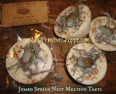 Jumbo Spring Nest Melting Tart made from by crowsnestprimitive