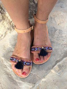 ▼100 % sandales de cuir unique faites par mes collèges etsy grec Miken « Jerry de Pitchouns personnalisé à Ibiza Bracelets damitié de macramé de kotton