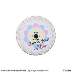 Pink and Blue-Baby Shower Favor- Jelly Belly Tin