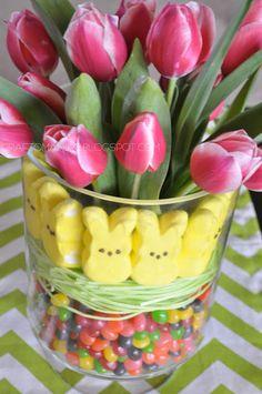 Easter Tulip Display Arrangement - Craft-O-Maniac