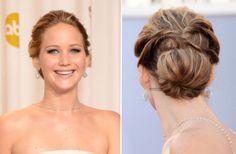 Jennifer Lawrence Updo tutorial