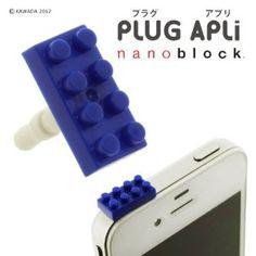 Plug Apli Nanoblock Earphone Jack Accessory (Blue)