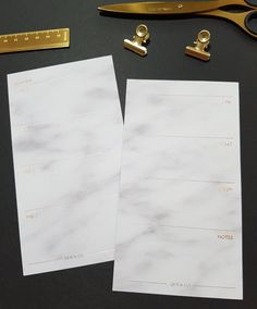 ROSE GOLD FOIL stamped (Personal - Week on two pages) marble planner inserts for Kikki k, Filofax and Louis Vuitton Planners