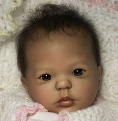"""Kimi by Donna Rubert unpainted Reborn Doll Kit Approx 19"""" long Open eyed kit"""