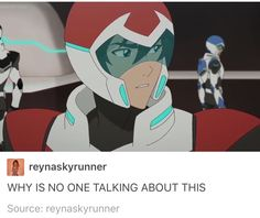 They looked at each other when Allura said they needed to look out for each other
