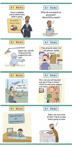 Differences Between Work And Home // tags: funny pictures - funny photos - funny images - funny pics - funny quotes - #lol #humor #funnypictures