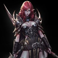 ArtStation - [Personal Concept] Assassin, R K New Fantasy, Beautiful Fantasy Art, Fantasy Women, Fantasy Girl, Dark Fantasy, Fantasy Female Warrior, Elf Warrior, Female Character Concept, Character Art