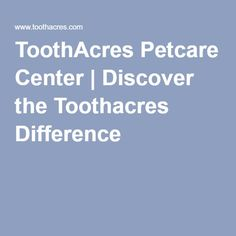 ToothAcres Petcare Center   Discover the Toothacres Difference