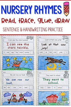 Nursery Rhyme fun! Handwriting practice with a plant theme while your students write their high-frequency. Students will read, write, re-arrange, and illustrate sentences. The rebus will help your most emergent reader feel successful. Two levels of this activity is included: Level one (10 pages)-students trace, Level two (10 pages)-students write. These work as a literacy station, center, or word work. These are also perfect as morning work. Supplement your Nursery Rhyme lessons with these…