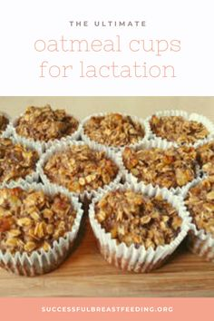 Delicious and filling oatmeal lactation cups! Click for the recipe and some more awesome resources for your lactation journey! oatmeal lactation recipes, oatmeal lactation cookies, lactation snacks, lactation cookies, lactation balls, lactation bites, milk supply, milk supply increase, milk supply increase food, breastfeeding foods milk supply, breastfeeding snacks, increase milk supply, low milk supply,