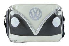 This VW Camper black shoulder bag forms part of the VW Collection by Brisa. The official Volkswagen bags feature a colourful black VW camper bus design with a Volkswagen tag. Vw Camper, Vw Volkswagen, Volkswagen Bus, T5 California, Campervan Gifts, Campervan Ideas, Camping Shop, Covered Wagon, Vintage Vans