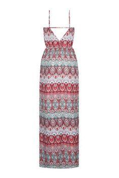 Strappy Printed Maxi Dress TALLY WEiJL