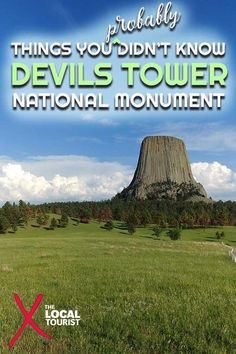 Learn why Devils Tower National Monument is a clerical error, and other things you (probably) didn't know about this Wyoming landmark. Usa Travel Guide, Travel Usa, Travel Guides, Travel Tips, Travel Advice, Travel Destinations, Travel Stuff, Us National Parks, Road Trip Usa
